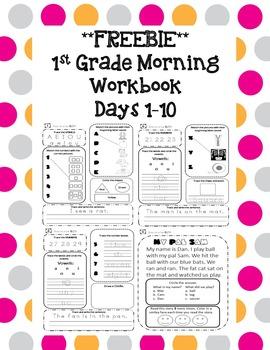 1st Grade Morning Workbook Freebie **Common Core Aligned**