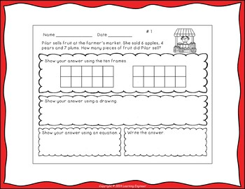 Addition Word Problems: Multi-Step Word Problems for 1st Grade Math Centers