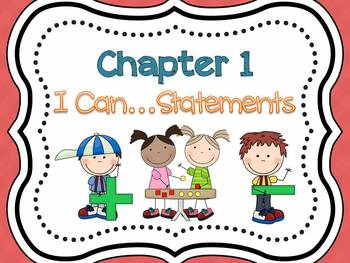 1st Grade My Math I Can...Statements (Cutesy Font)