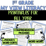 1st Grade My View Literacy: Passages, Phonics, & Word Work For All Year [BUNDLE]