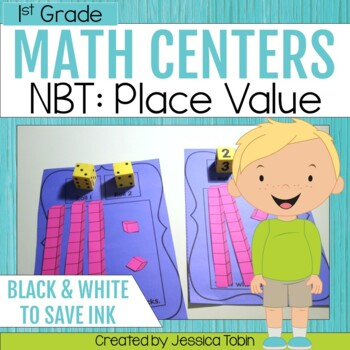 1st Grade Math Centers- Numbers and Operations in Base Ten NBT