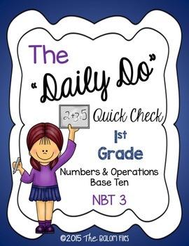 """The """"Daily Do"""" Quick Check Assessment 1st Grade Math NBT 3"""