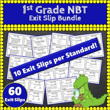 1st Grade NBT Exit Slips: Number & Operations in Base Ten Exit Slips 1st Grade