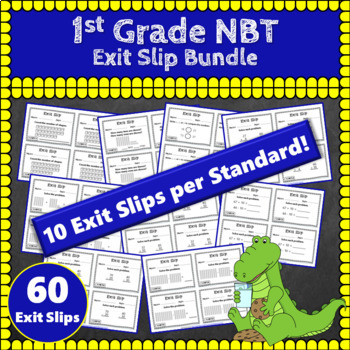 1st Grade NBT Exit Slips: Number & Operations in Base Ten