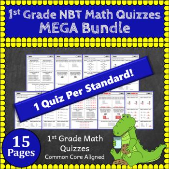 1st Grade NBT Quizzes: 1st Grade Math Quizzes, Number & Operations in Base Ten