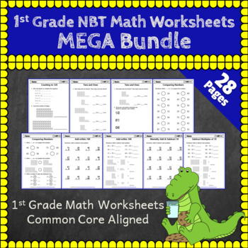 1st Grade NBT Worksheets: 1st Grade Math Worksheets, Numbers in Base Ten