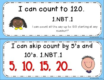 Counting to 120 Math Tasks and Exit Tickets