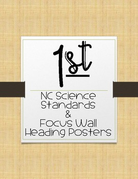 1st Grade NC Science Essential Questions and Focus Wall Posters