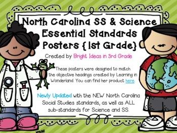 1st Grade NC Science & Social Studies Objectives {Melonheadz Edition}