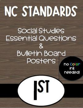 1st Grade NC Social Studies Standards and Focus Wall Posters