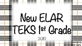 1st Grade NEW ELAR TEKS Easy Print & Post