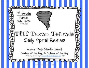 1st Grade NEW TEKS Texas Tornado Spiral Review Part 3: Set