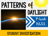 1st Grade NGSS Sun Changes & Patterns of Daylight Investigation