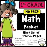 1st Grade NO PREP Math Packet
