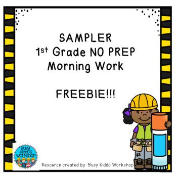 1st Grade NO PREP Morning Work FREEBIE