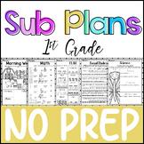 1st Grade - NO PREP - Sub Plans