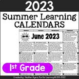 2018 1st Grade NO PREP Summer Calendars