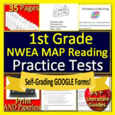 1st Grade NWEA MAP Primary Reading Test Prep Print & SELF-GRADING GOOGLE FORMS!