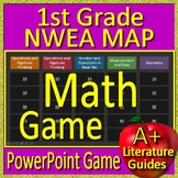 1st Grade NWEA Map Test Prep Math Game RIT Bands 161 -180