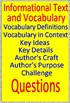 1st Grade NWEA Map Test Prep Reading Informational Vocabulary Game RIT 161 -200