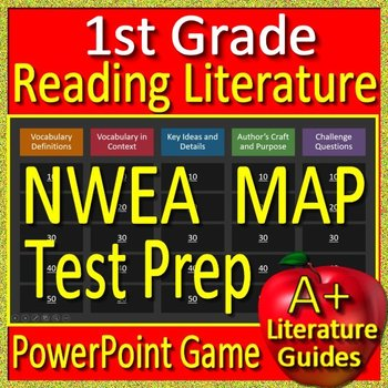 1st Grade NWEA Map Test Prep Reading Literature and Vocabulary Game RIT 161 -200
