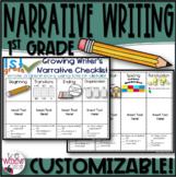 1st Grade Narrative Writing Checklist EDITABLE