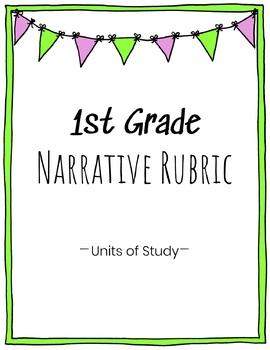 1st Grade Narrative Writing Rubric