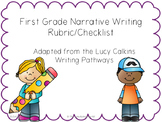 1st Grade Narrative Writing Rubric/Checklist (Adapted from