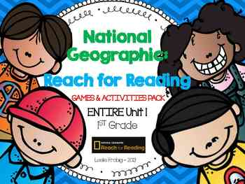 1st Grade National Geographic: Reach for Reading Games (Entire Unit 1)