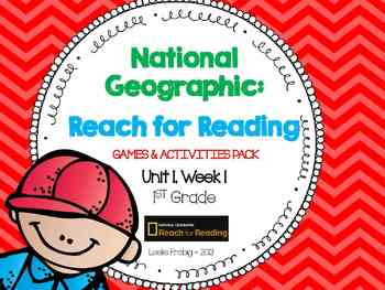 1st Grade National Geographic: Reach for Reading Games (Unit 1, Week 1)