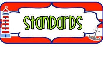 1st Grade Nautical Standards FLORIDA set 2