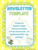 1st Grade Newsletter Colorful and Fun