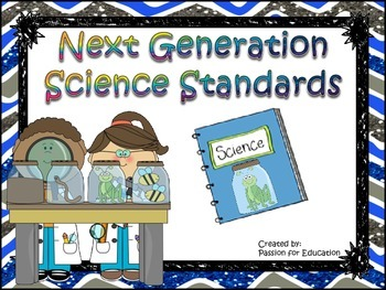 """Next Generation Science Standards """"I Can"""" Statements 1st / First Grade"""