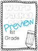 1st Grade (No Sub) Sub Packets!