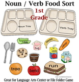 1st Grade Noun Verb Food Sort Activity
