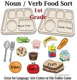 1st Grade Noun Verb Food Sort Activity