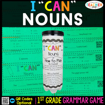 1st Grade Nouns Game | Common Nouns, Proper Nouns, Possessive Nouns, and MORE!