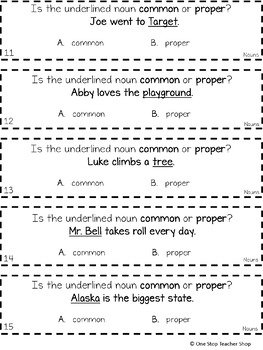 1st Grade Nouns Game FREE | I CAN Grammar Games