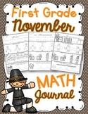 1st Grade November Math Journal