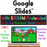 1st Grade Number Sense Bundle for Google Slides and SEESAW