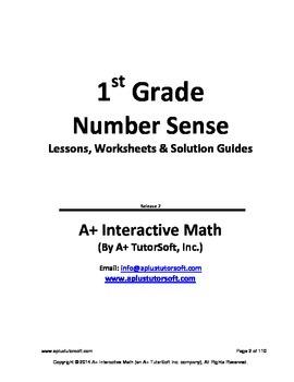 1st Grade Math Number Sense Lessons, Worksheets, Solution Manuals