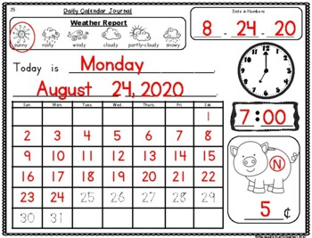 1st Grade Number of the Day & Calendar Journal updated & aligned to the NEW TEKS