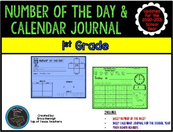 1st Grade Number of the Day & Calendar Journal updated & a