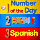 1st Grade Number of the Day Bundle | SPANISH | Morning Wor