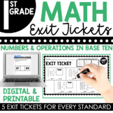 1st Grade Numbers & Operations in Base Ten Exit Tickets (Exit Slips)