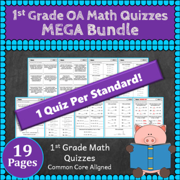 1st Grade OA Quizzes: 1st Grade Math Quizzes, Operations & Algebraic Thinking