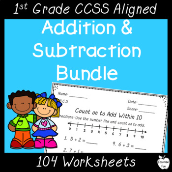 OA Standards Addition & Subtraction Worksheets~BUNDLE!!! by Foreman Fun