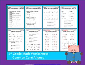 1st Grade OA Worksheets: 1st Grade Math Worksheets, Operations & Algebraic