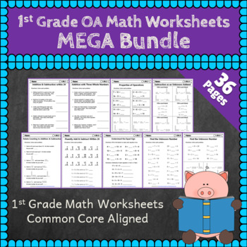 1st Grade OA Worksheets: 1st Grade Math Worksheets, Operat