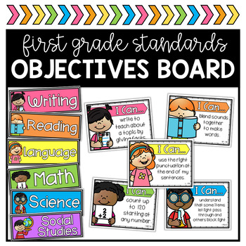 1st Grade Objectives Board